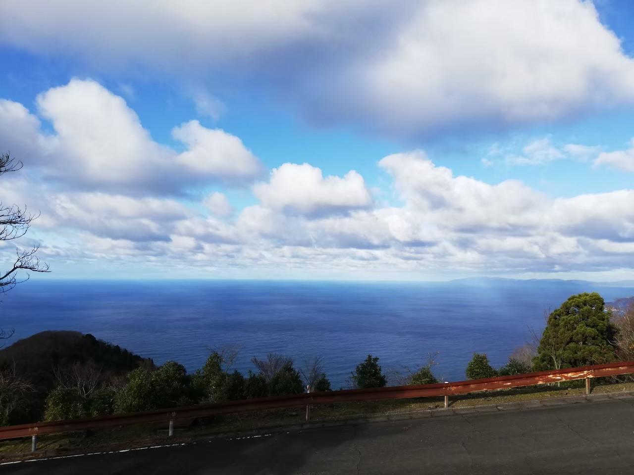 海の見える道 県境