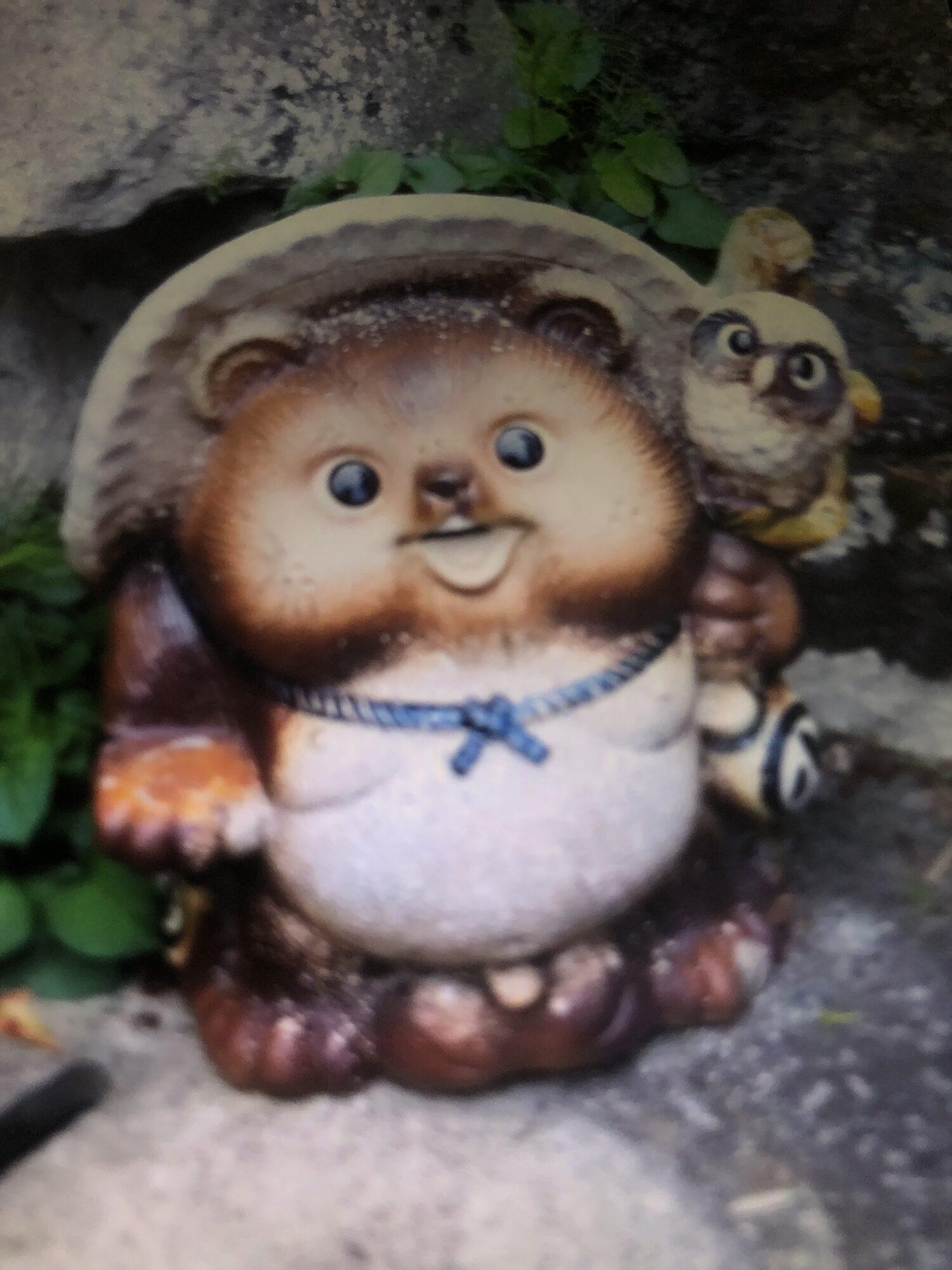 信楽焼の狸