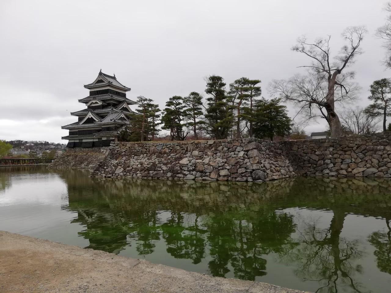 松本城 お堀