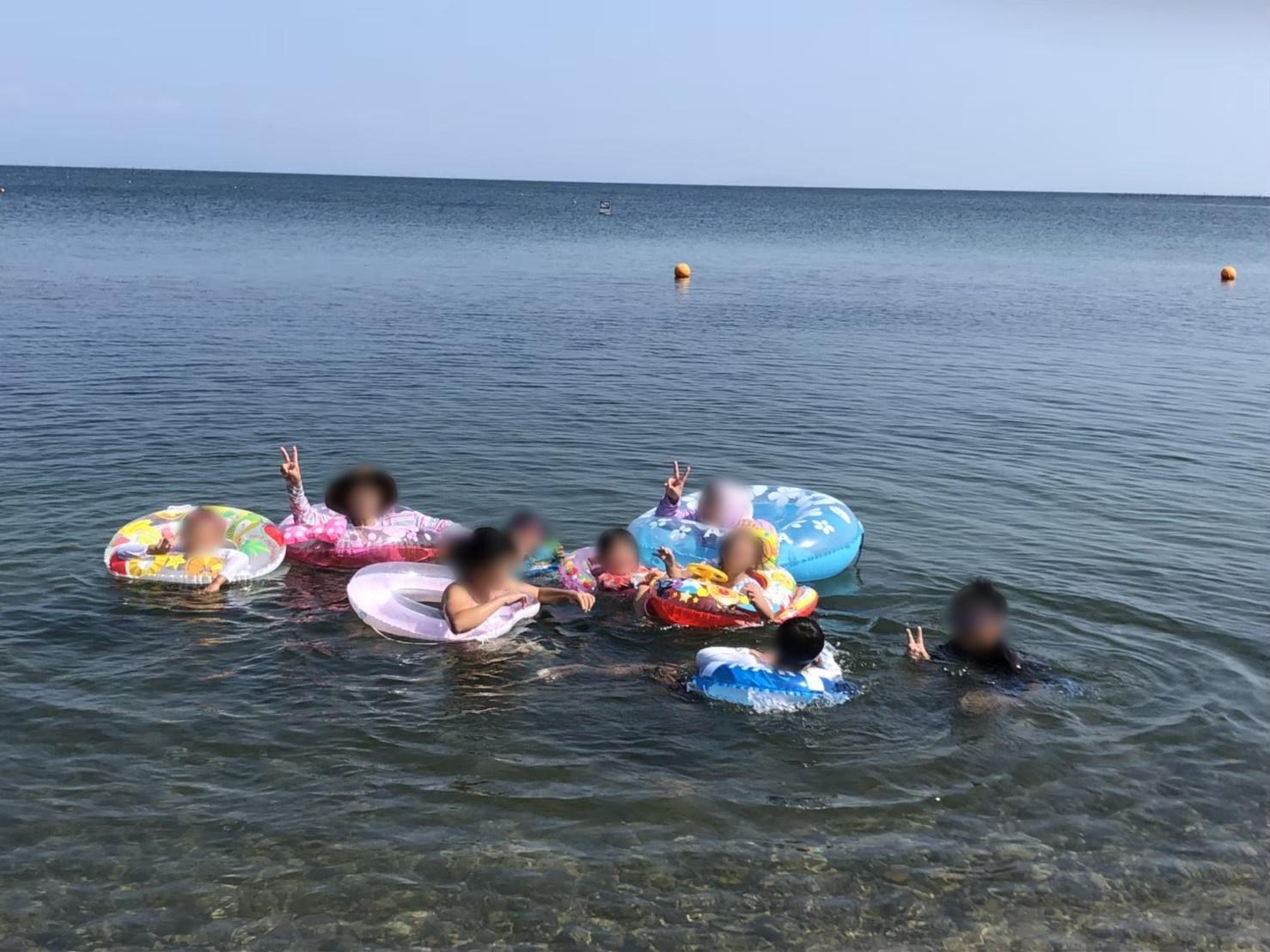 マキノ湖水浴2