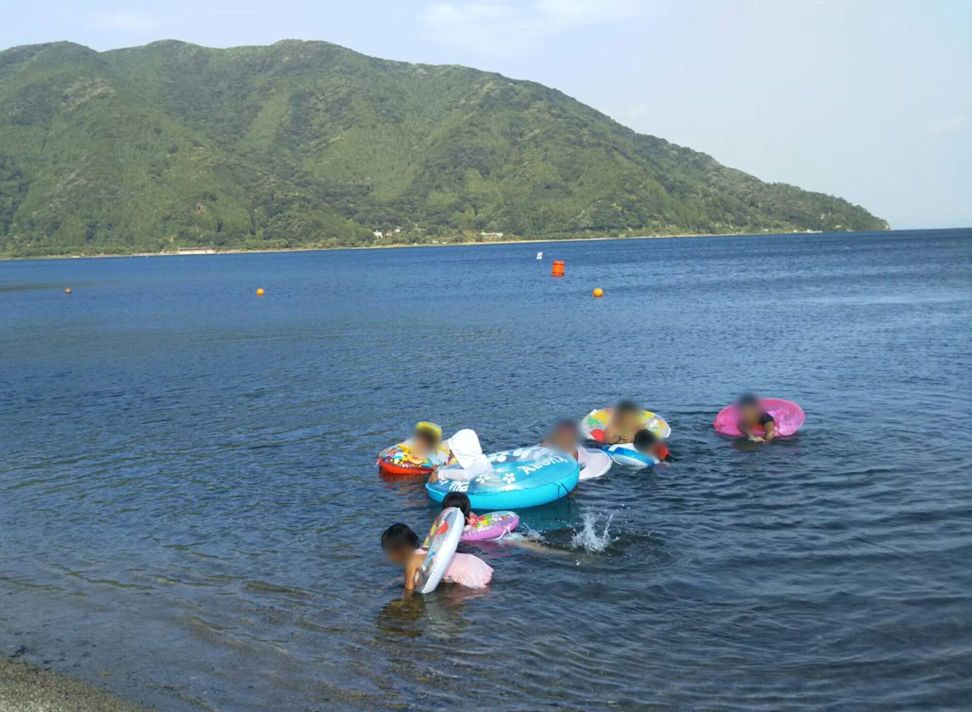 マキノ湖水浴1